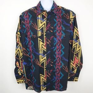 Vintage WRANGLER Western Snap Button Shirt Large